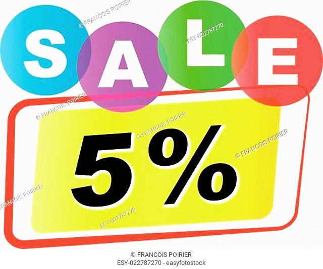 Vector five percent sale icon