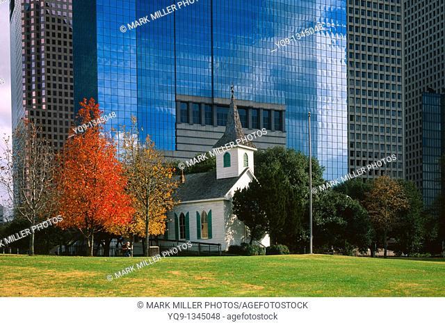 St John Church 1891 Sam Houston Park Historic Downtown Houston Texas USA Large Format Original Image