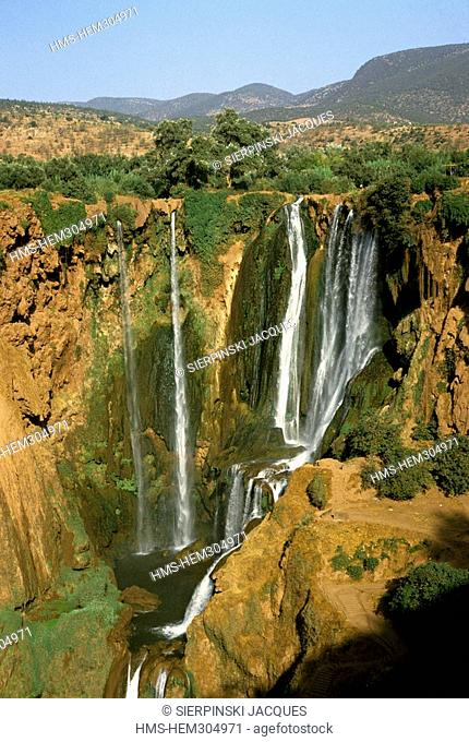 Morocco, Middle Atlas, Beni Melal, Ouzoud Waterfalls