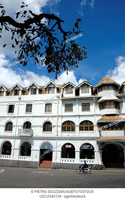 Kandy, Sri Lanka: colonial building in the city center