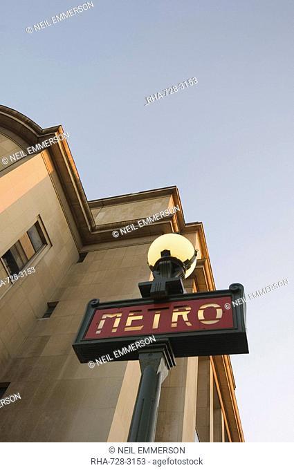 Metro at Trocadero, Paris, France