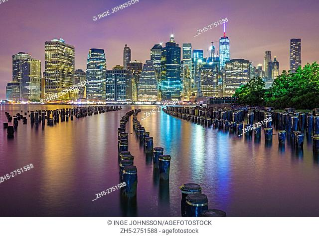 Brooklyn Bridge Park is an 85-acre park on the Brooklyn side of the East River in New York City. The park has revitalized 1
