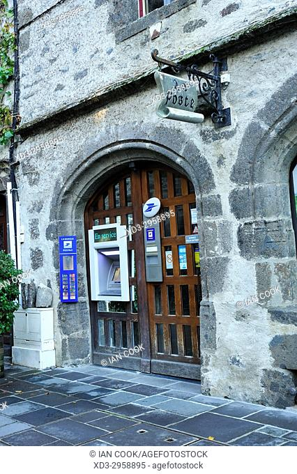 post office, Salers, Cantal Department, Auvergne, France