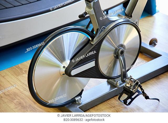 stationary bicycle, Fitness center, Donostia, San Sebastian, Basque Country, Spain, Europe