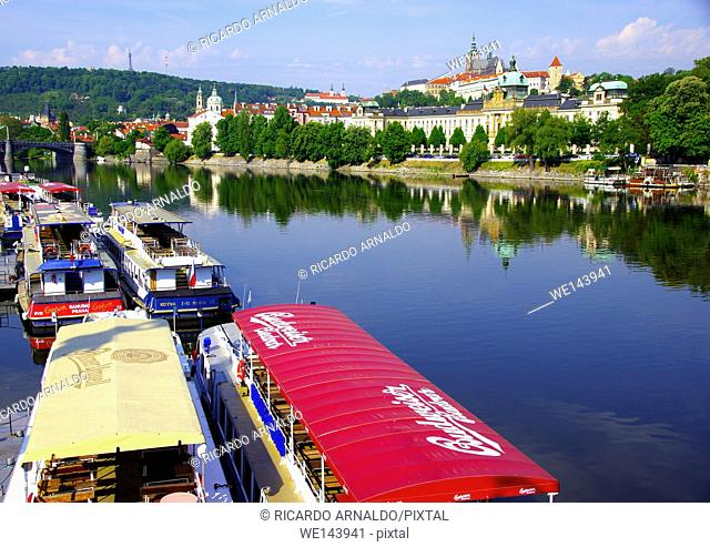 The Vultava and the Prague Castle