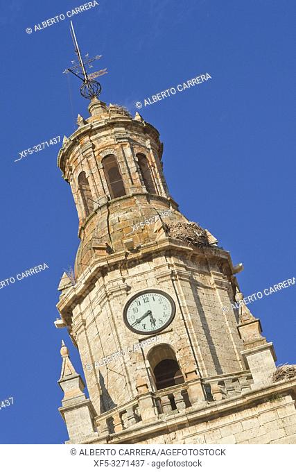 Torre del Reloj, 17th Century Clock Tower, Puerta del Mercado, Old Town, Toro, Zamora, Castilla y León, Spain, Europe
