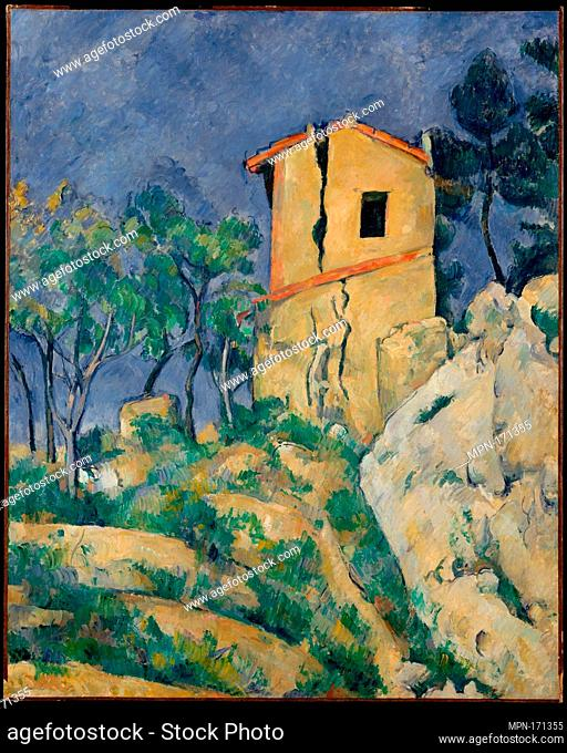 The House with the Cracked Walls. Artist: Paul Cézanne (French, Aix-en-Provence 1839-1906 Aix-en-Provence); Date: 1892-94; Medium: Oil on canvas; Dimensions: 31...