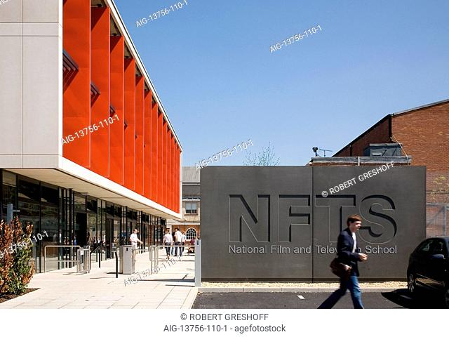 Facade of the National Film and Television School, Beaconsfield, UK