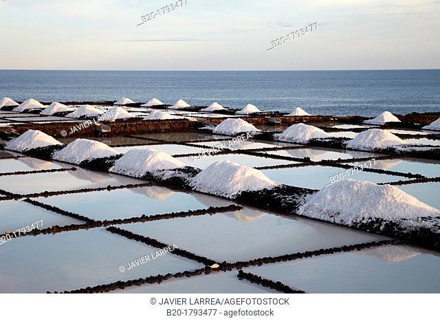 Saltworks, Salinas de Fuencaliente, La Palma, Canary Island, Spain