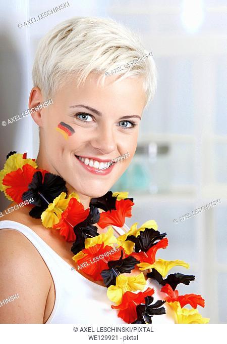 Portrait of a female soccer fan