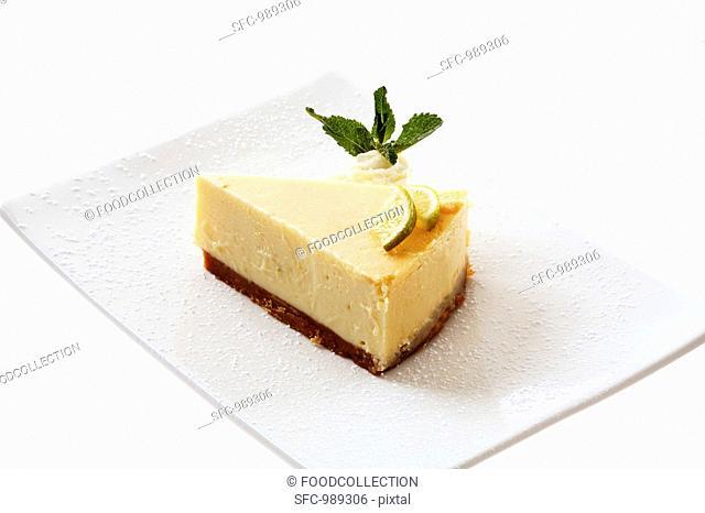 A piece of Key lime pie
