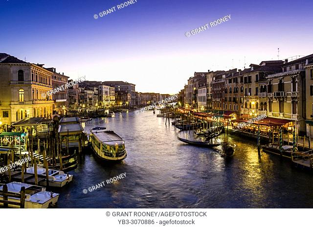 A View Of The Grand Canal Taken From The Rialto Bridge, Venice, Italy