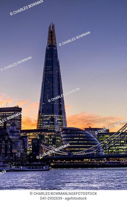 UK, England, London, Shard and City Hall