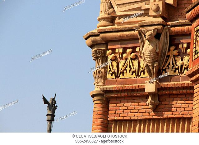 Arc de Triomf at Paseo San Juan, detail, Barcelona, Catalonia, Spain