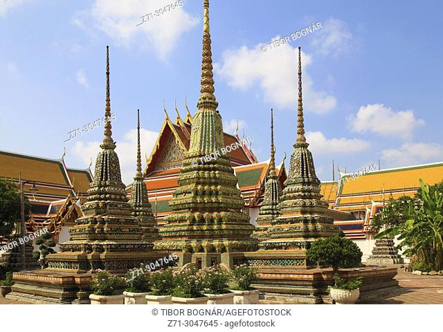 Thailand, Bangkok, Wat Pho, buddhist temple,