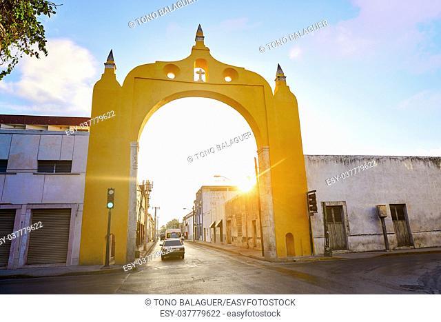 Merida Arco del Puente bridge Arch in Yucatan Mexico