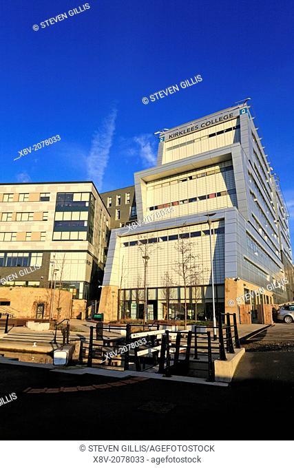 Kirklees College campus, Waterfront Quarter, Huddersfield, West Yorkshire, England, UK