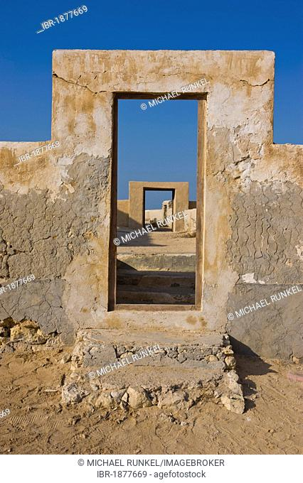 Old abandoned village, Qatar, Arabian Peninsula, Middle East