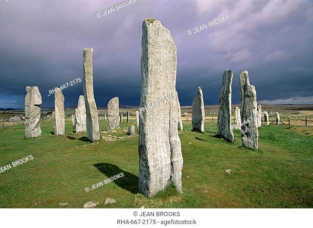 Callanish Standing Stones, Isle of Lewis, Outer Hebrides, Western Isles, Scotland, United Kingdom, Europe
