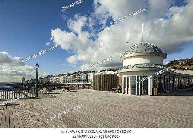 Pavilion building on Hastings Pier, East Sussex, England