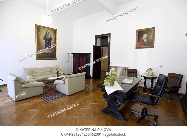 Cardinal Beran's room in the Nepomucenum Papal college is seen in Vatican in April 20, 2018. The remains of Cardinal and Prague Archbishop Josef Beran...