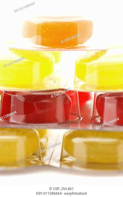 Colorful lozenges close-up