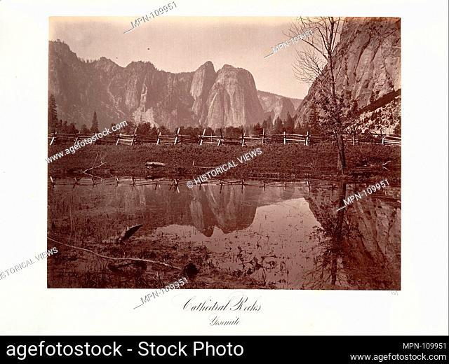 Cathedral Rocks, Yosemite. Artist: Attributed to Carleton E. Watkins (American, 1829-1916); Date: ca. 1872, printed ca. 1876; Medium: Albumen silver print from...