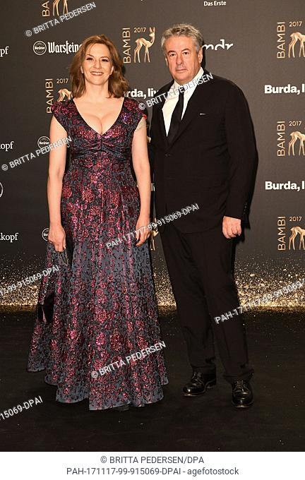Martina Gedeck and her husband Markus Imboden arrive for the 69th Bambi award ceremony in Berlin, Germany, 16 November 2017