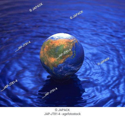 Globe on water