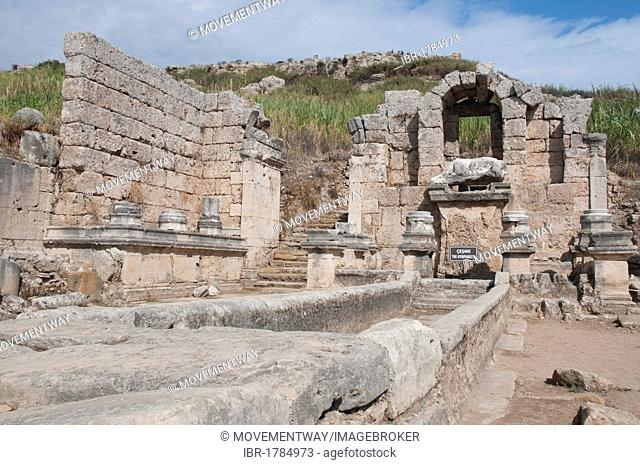 Ancient cult site of the nymphs, Perga, a large site of ancient ruins, Antalya, Turkish Riviera, Turkey, Asia