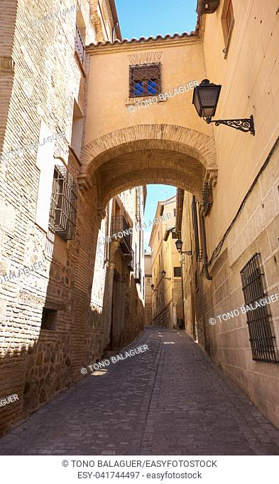 Toledo juderia arch in Castile La Mancha of Spain
