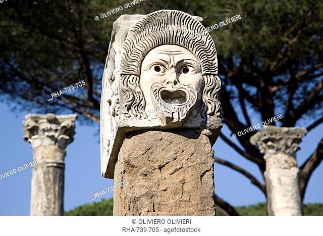 Theatre in ancient Ostia, Rome, Lazio, Italy, Europe