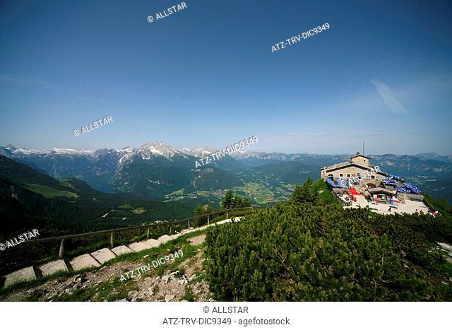 EAGLES NEST, KEHLSTEINHAUS, HOCHKALTER, LATTENGEBIRGE & MOUNTAINS; NEAR BERCHTESGADEN, GERMANY; 10/06/2008
