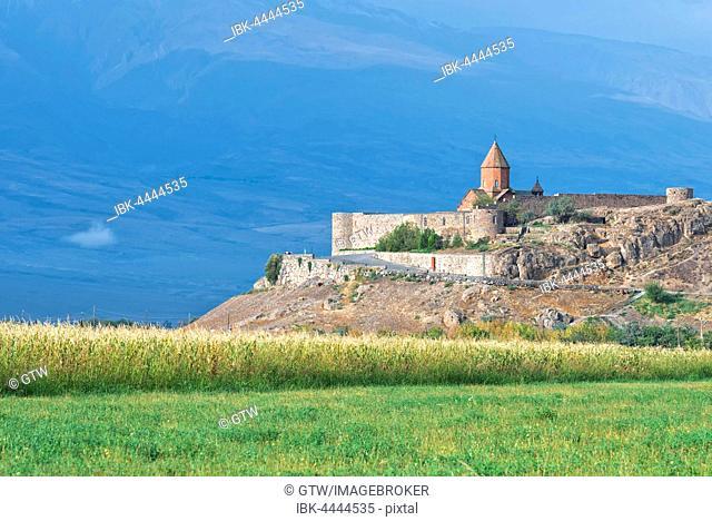 Khor Virap Monastery and apostolic church at Mount Ararat, Ararat Province, Caucasus, Armenia