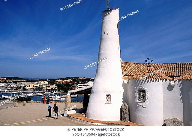 The church of 'Stella Maris' at Peurto Cervo  Costa Smeralda in Sardinia