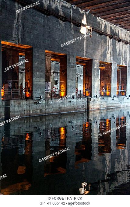 EXHIBITION IN THE CULTURAL SPACE OF THE SUBMARINE BASE, DOCK BASINS, BATACLAN QUARTER, CITY OF BORDEAUX, GIRONDE (33), FRANCE