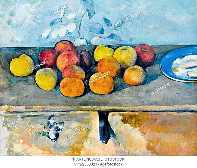 Paul Cézanne . Pommes et Biscuits. 1880 . Musée de l'Orangerie - Paris