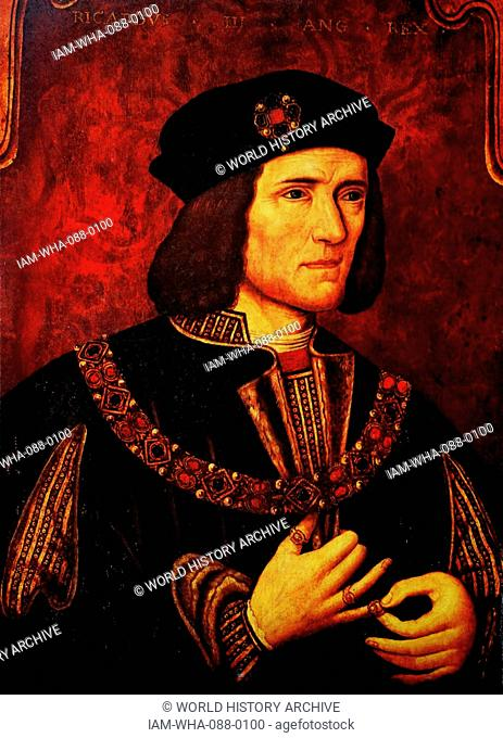 Portrait of Richard III of England (1452-1485) King of England until his death at the Battle of Bosworth Field. Dated 15th Century