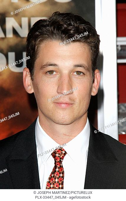 """Miles Teller at the Premiere of Columbia Pictures' """"""""Only The Brave"""""""" held at the Regency Village Theatre in Westwood, CA, October 8, 2017"""