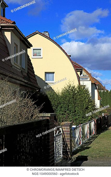 distinctive domed roof with terraced houses, Thuringia