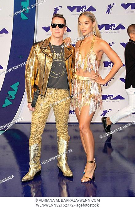 MTV Video Music Awards (VMA) 2017 Arrivals held at the Forum in Inglewood, California. Featuring: Jeremy Scott, Jasmine Sanders Where: Los Angeles, California