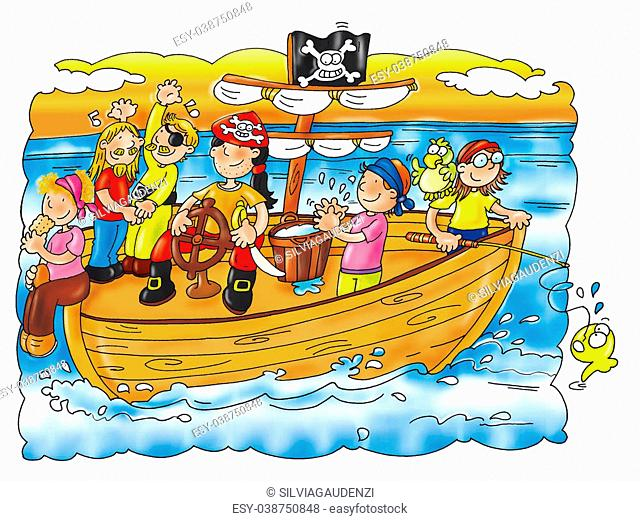 pirates happy at sea