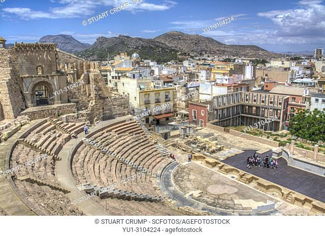 Roman amphitheatre in the Spanish city of Cartagena, Murcia