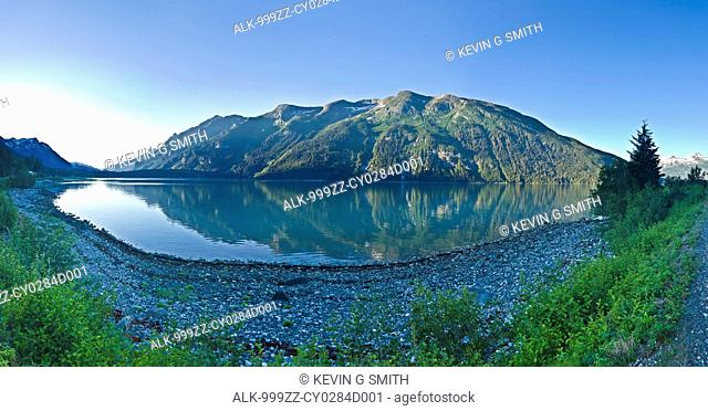 View across Lutak Inlet towards the Coastal Mountain Range, Haines, Southeast Alaska, Summer