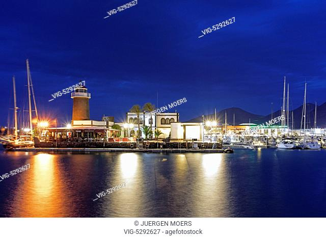 11.01.2015, Spain, ESP, Canary Islands, Lanzarote, Evening at the new Marina Rubicon at Playa Blanca. - Playa Blanca Lanzarote Kanarisch, Spain, 11/02/2015