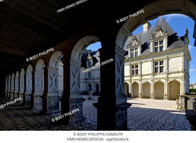 France, Indre et Loire, Loire Valley listed as World Heritage by UNESCO, castle and Gardens of Villandry, built in 16 th century