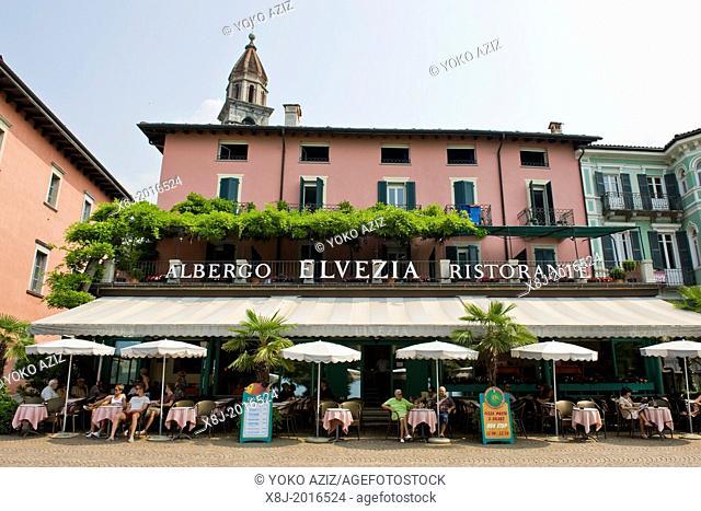 Switzerland, Canton Ticino, Ascona, Albergo Helvetia