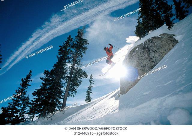 Skiing at Brighton. Utah. USA