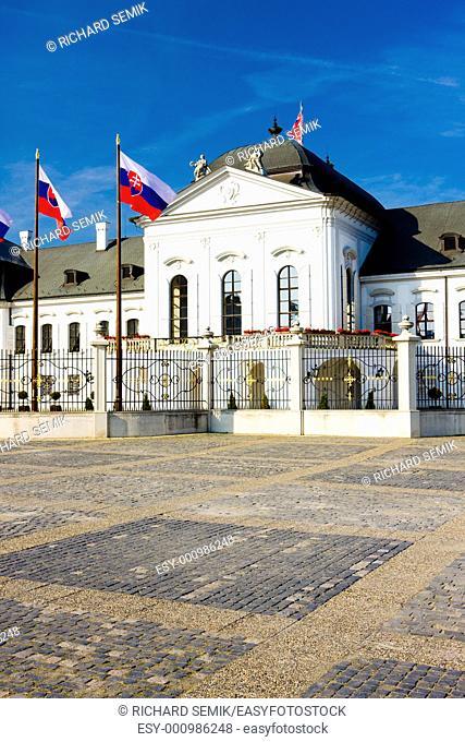 Presidential residence in Grassalkovich Palace on Hodzovo Square, Bratislava, Slovakia
