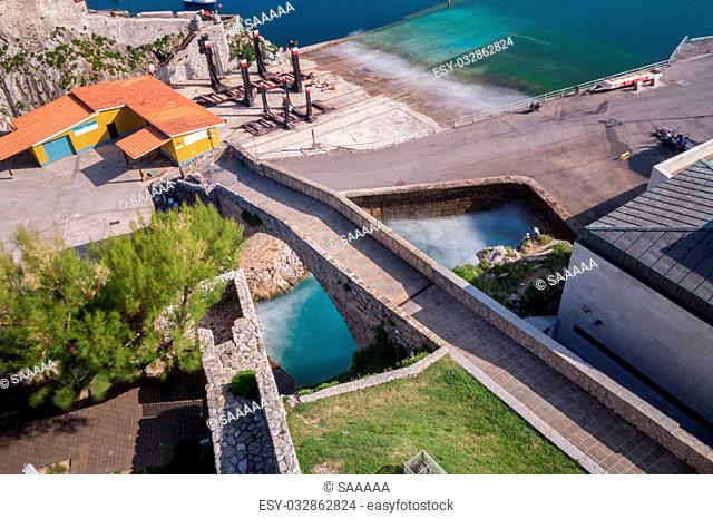 Long exposure of Breakwater and harbor in Castro Urdiales